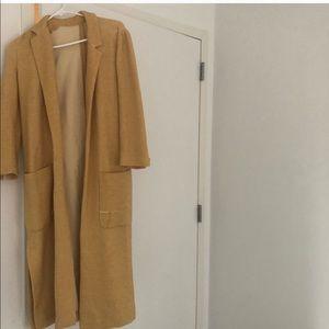 Yellow Zara sweater/coat